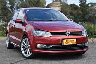 2015 Volkswagen Polo 6R MY15 81TSI Comfortline Red 6 Speed Manual Hatchback.