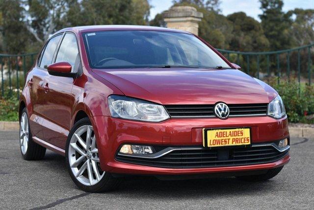 Used Volkswagen Polo 6R MY15 81TSI Comfortline Enfield, 2015 Volkswagen Polo 6R MY15 81TSI Comfortline Red 6 Speed Manual Hatchback