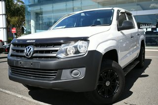 2015 Volkswagen Amarok 2H MY14 TDI340 (4x2) White 6 Speed Manual Dual Cab Chassis.