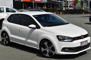 2013 Volkswagen Polo 6R MY14 GTi White 7 Speed Auto Direct Shift Hatchback.