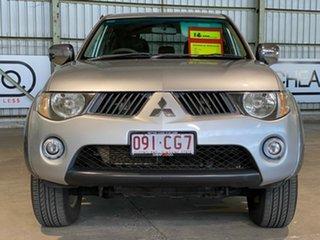 2009 Mitsubishi Triton ML MY09 GLX-R Double Cab Silver 4 Speed Automatic Utility