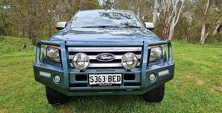 2014 Ford Ranger PX XLS Double Cab Gunmetal Blue 6 Speed Sports Automatic Utility.