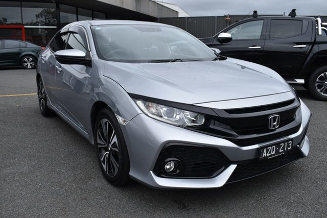 Used Honda Civic 10th Gen MY19 VTi-L Wantirna South, 2019 Honda Civic 10th Gen MY19 VTi-L Billet Silver 1 Speed Constant Variable Hatchback