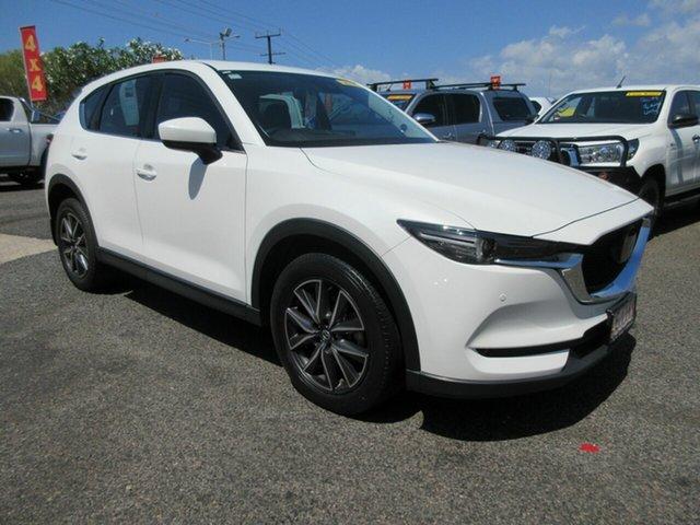 Used Mazda CX-5 KF4W2A Akera SKYACTIV-Drive i-ACTIV AWD Winnellie, 2017 Mazda CX-5 KF4W2A Akera SKYACTIV-Drive i-ACTIV AWD White 6 Speed Sports Automatic Wagon