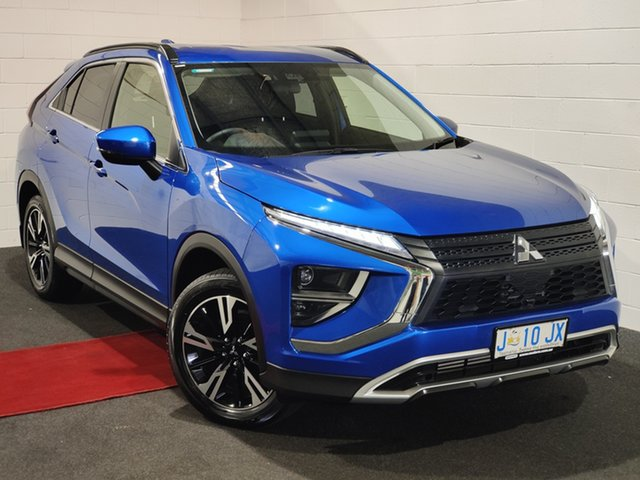 Used Mitsubishi Eclipse Cross YA MY20 LS 2WD Glenorchy, 2020 Mitsubishi Eclipse Cross YA MY20 LS 2WD Lightning Blue 8 Speed Constant Variable Wagon