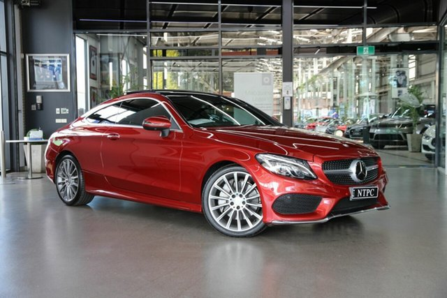 Used Mercedes-Benz C-Class C205 C300 7G-Tronic + North Melbourne, 2016 Mercedes-Benz C-Class C205 C300 7G-Tronic + Red 7 Speed Sports Automatic Coupe
