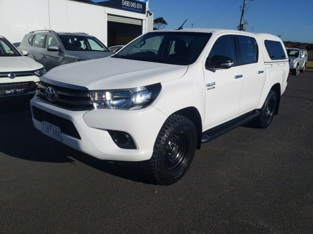 Used Toyota Hilux GUN126R SR Double Cab Warrnambool East, 2016 Toyota Hilux GUN126R SR Double Cab White 6 Speed Sports Automatic Utility