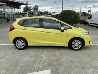 2015 Honda Jazz GF MY15 VTi Yellow 5 Speed Manual Hatchback.