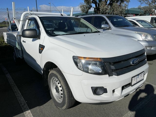 Used Ford Ranger PX XL 2.2 (4x2) Traralgon, 2012 Ford Ranger PX XL 2.2 (4x2) White 6 Speed Manual Cab Chassis