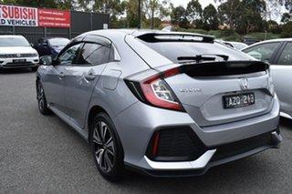2019 Honda Civic 10th Gen MY19 VTi-L Billet Silver 1 Speed Constant Variable Hatchback.