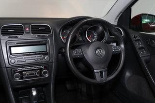 2011 Volkswagen Golf VI MY11 118TSI DSG Comfortline Red 7 Speed Sports Automatic Dual Clutch