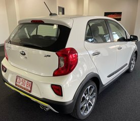 2019 Kia Picanto JA MY20 X-Line White 4 Speed Automatic Hatchback.