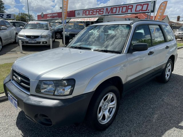 Used Subaru Forester MY04 X Victoria Park, 2004 Subaru Forester MY04 X Silver 5 Speed Manual Wagon