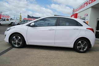 2015 Hyundai i30 GD3 Series 2 Active X White 6 Speed Automatic Hatchback.