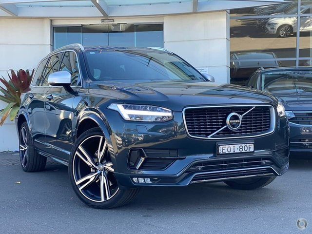 Used Volvo XC90 L Series MY18 T6 Geartronic AWD R-Design Sutherland, 2018 Volvo XC90 L Series MY18 T6 Geartronic AWD R-Design Grey 8 Speed Sports Automatic Wagon