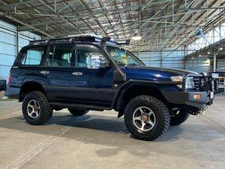 1999 Toyota Landcruiser FZJ105R GXL Blue 5 Speed Manual Wagon.