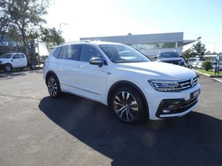 2020 Volkswagen Tiguan 5N MY21 140TDI Highline DSG 4MOTION Allspace Pure White 7 Speed Automatic.