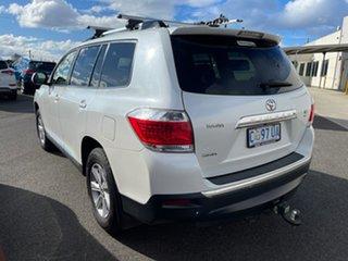 2011 Toyota Kluger GSU40R MY11 KX-R 2WD White 5 Speed Sports Automatic Wagon.