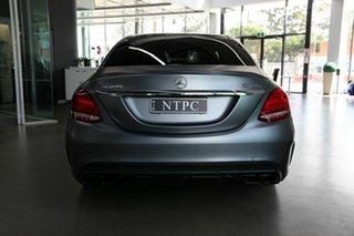 2018 Mercedes-Benz C-Class W205 809MY C63 AMG SPEEDSHIFT MCT S Grey 9 Speed Sports Automatic Sedan
