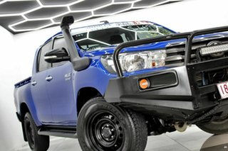 2016 Toyota Hilux GUN126R SR (4x4) Blue 6 Speed Automatic Dual Cab Utility.