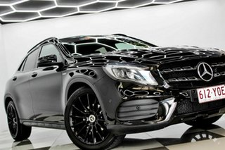 2018 Mercedes-Benz GLA180 X156 MY19 Night Edition Black 7 Speed Auto Dual Clutch Wagon.