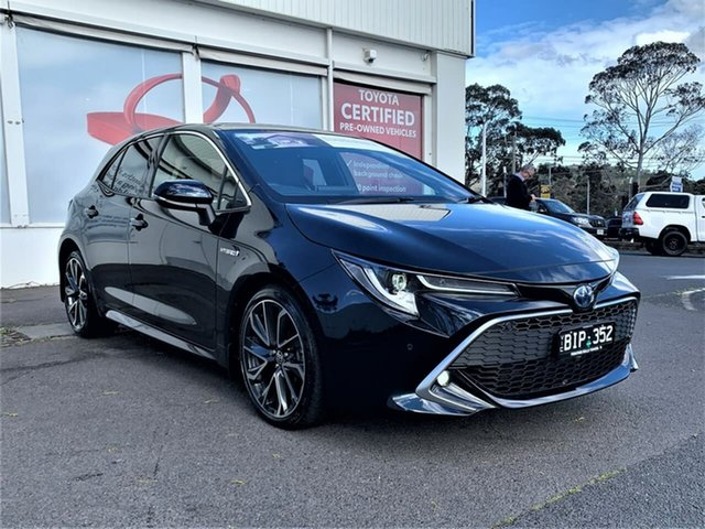 Pre-Owned Toyota Corolla ZWE211R ZR E-CVT Hybrid Ferntree Gully, 2020 Toyota Corolla ZWE211R ZR E-CVT Hybrid Peacock Black 10 Speed Constant Variable Hatchback