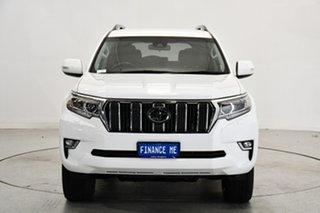 2019 Toyota Landcruiser Prado GDJ150R GXL White 6 Speed Sports Automatic Wagon.