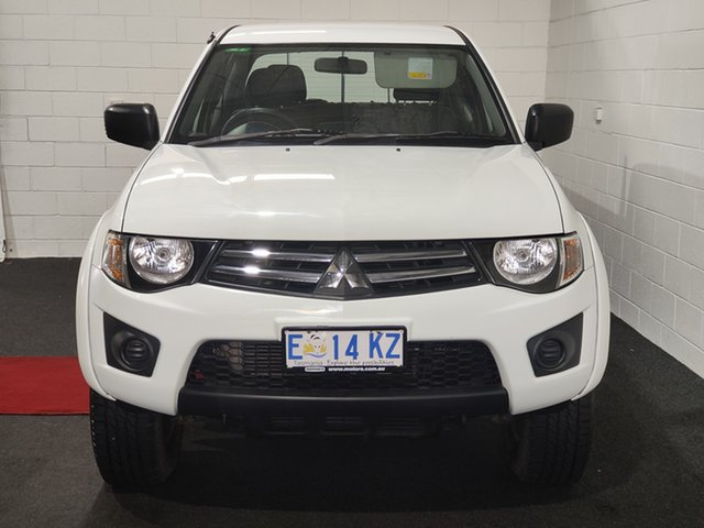 Used Mitsubishi Triton MN MY15 GLX Double Cab Glenorchy, 2015 Mitsubishi Triton MN MY15 GLX Double Cab White 5 Speed Manual Utility