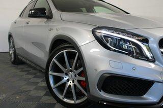 2015 Mercedes-Benz GLA-Class X156 805+055MY GLA45 AMG SPEEDSHIFT DCT 4MATIC Silver 7 Speed.