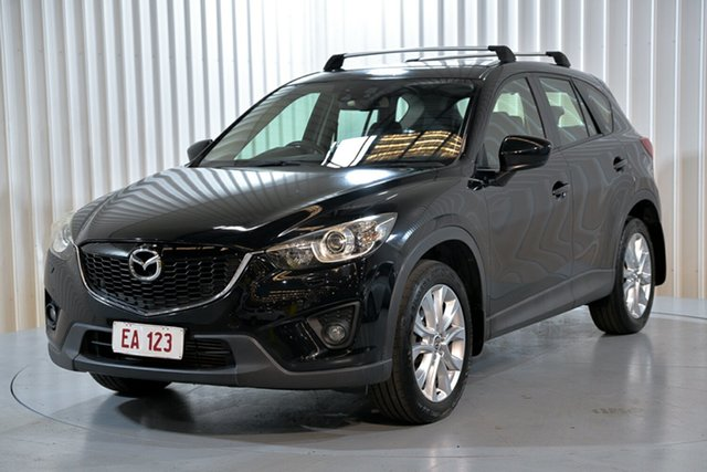 Used Mazda CX-5 KE1021 MY14 Akera SKYACTIV-Drive AWD Hendra, 2014 Mazda CX-5 KE1021 MY14 Akera SKYACTIV-Drive AWD Black 6 Speed Sports Automatic Wagon