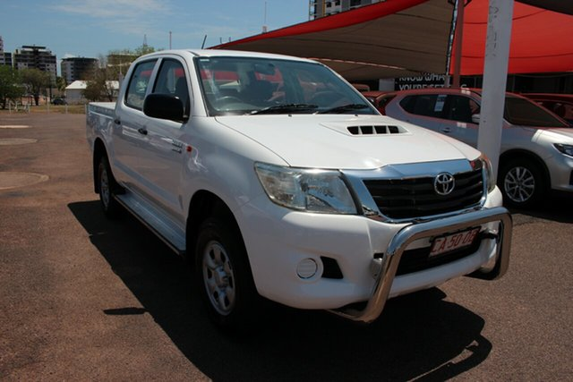 Used Toyota Hilux KUN26R MY12 SR Double Cab Darwin, 2012 Toyota Hilux KUN26R MY12 SR Double Cab Glacier White 4 Speed Automatic Utility