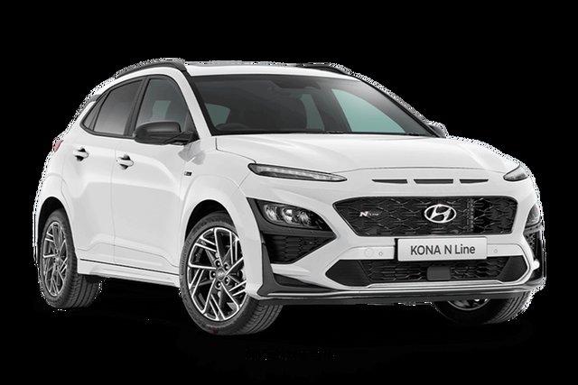 New Hyundai Kona N Line Premium Hamilton, 2021 Hyundai Kona OS.V4 N Line Premium Atlas White 7 Speed Automatic SUV