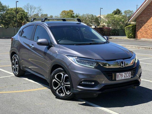 Used Honda HR-V MY19 VTi-LX Chermside, 2019 Honda HR-V MY19 VTi-LX Grey 1 Speed Constant Variable Hatchback