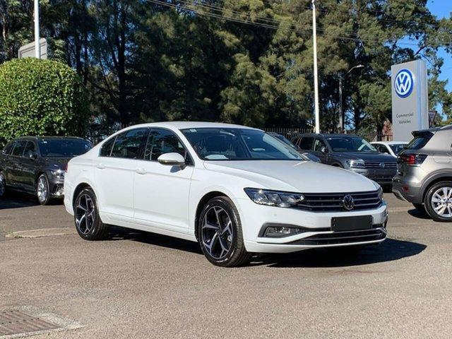 New Volkswagen Passat 3C (B8) MY21 140TSI DSG Business Botany, 2021 Volkswagen Passat 3C (B8) MY21 140TSI DSG Business White 7 Speed Sports Automatic Dual Clutch