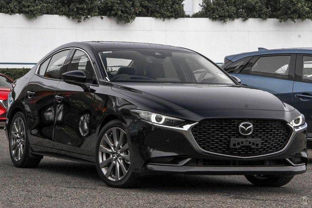 Demo Mazda 3 BP2SLA G25 SKYACTIV-Drive Astina Narre Warren, 2021 Mazda 3 BP2SLA G25 SKYACTIV-Drive Astina Black 6 Speed Sports Automatic Sedan