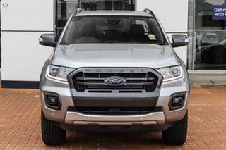 2021 Ford Ranger PX MkIII 2021.25MY Wildtrak Silver 10 Speed Sports Automatic Double Cab Pick Up.
