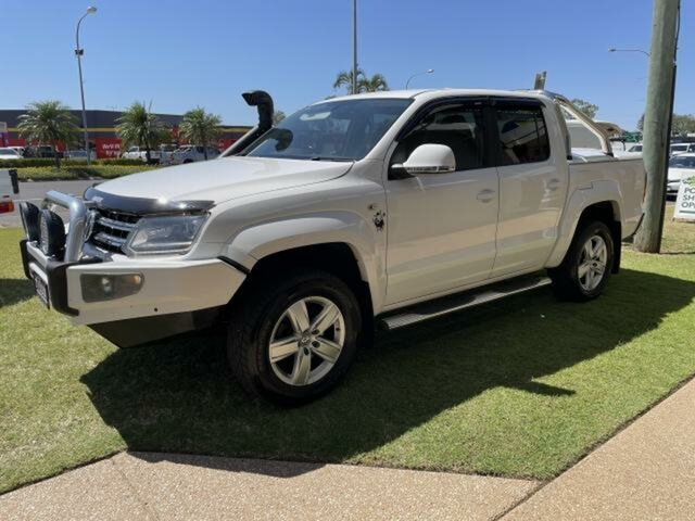 Pre-Owned Volkswagen Amarok Emerald, 2016 Volkswagen Amarok Candy White 8 Speed Automatic Dual Cab Utility