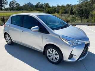 2018 Toyota Yaris NCP130R Ascent Silver 4 Speed Automatic Hatchback.