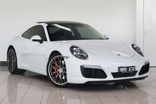 2016 Porsche 911 991 MY17 Carrera S PDK Carrara White 7 Speed Sports Automatic Dual Clutch Coupe.