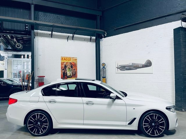 Used BMW 5 Series G30 520d Steptronic M Sport Port Melbourne, 2017 BMW 5 Series G30 520d Steptronic M Sport White 8 Speed Sports Automatic Sedan
