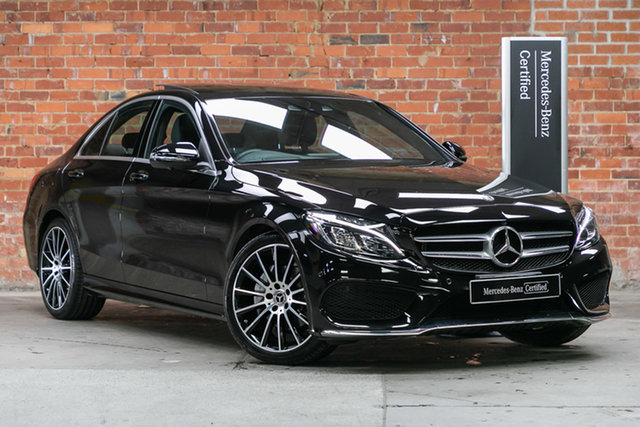 Certified Pre-Owned Mercedes-Benz C-Class W205 808MY C200 9G-Tronic Mulgrave, 2017 Mercedes-Benz C-Class W205 808MY C200 9G-Tronic Black 9 Speed Sports Automatic Sedan