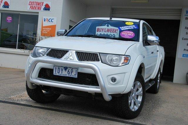 Used Mitsubishi Triton MN MY15 GLX-R (4x4) Wendouree, 2015 Mitsubishi Triton MN MY15 GLX-R (4x4) White 5 Speed Automatic 4x4 Double Cab Utility