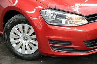2013 Volkswagen Golf VII 90TSI DSG Red 7 Speed Sports Automatic Dual Clutch Hatchback.