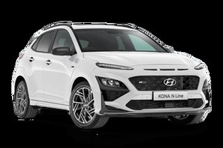 2021 Hyundai Kona OS.V4 N Line Premium Atlas White 7 Speed Automatic SUV