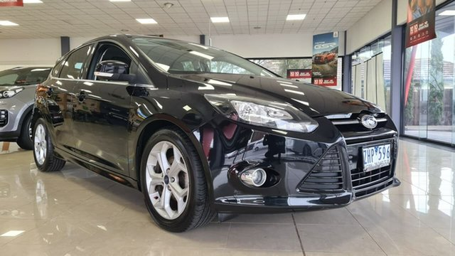 Pre-Owned Ford Focus LW MkII Sport PwrShift Wonthaggi, 2012 Ford Focus LW MkII Sport PwrShift Black 6 Speed Sports Automatic Dual Clutch Hatchback