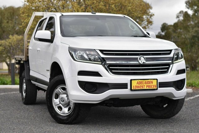 Used Holden Colorado RG MY18 LS Crew Cab 4x2 Morphett Vale, 2017 Holden Colorado RG MY18 LS Crew Cab 4x2 White 6 Speed Sports Automatic Cab Chassis