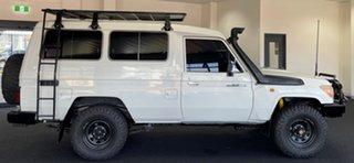2008 Toyota Landcruiser VDJ78R Workmate Troopcarrier White 5 Speed Manual Wagon.
