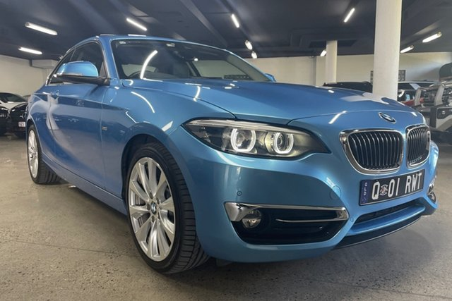 Used BMW 2 Series F22 LCI 230i Luxury Line Albion, 2018 BMW 2 Series F22 LCI 230i Luxury Line Seaside Blue 8 Speed Sports Automatic Coupe