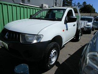 2007 Mitsubishi Triton ML GL White 5 Speed Manual Cab Chassis.