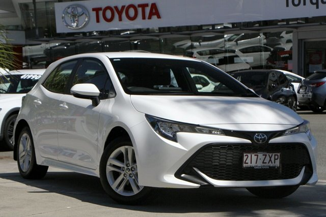Pre-Owned Toyota Corolla Mzea12R Ascent Sport North Lakes, 2020 Toyota Corolla Mzea12R Ascent Sport Glacier White 10 Speed Constant Variable Hatchback